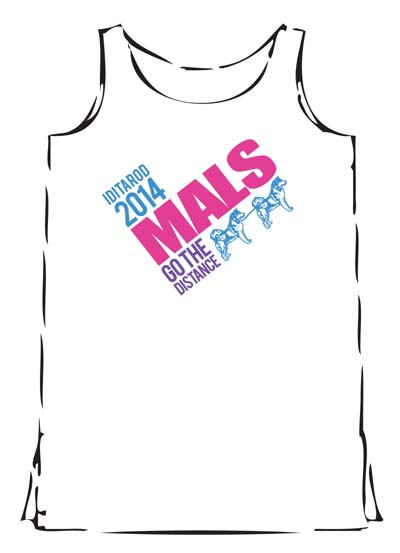 White Iditarod  Mals Go The  Distance Tank Top - front