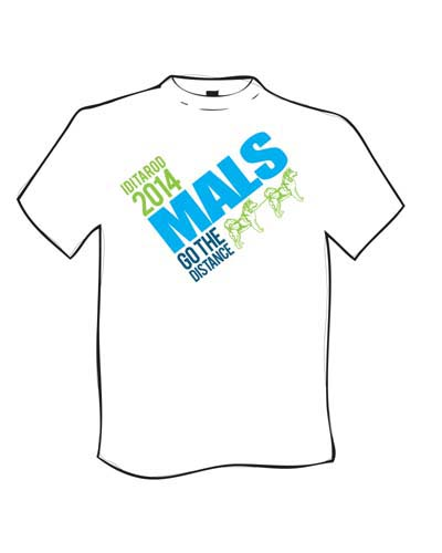 White Iditarod 2014 Mals Go The  Distance TShirt - front